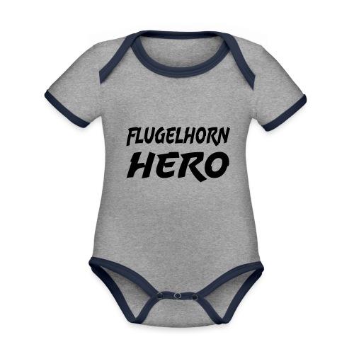 Flugelhorn Hero - Økologisk kortermet kontrast-babybody