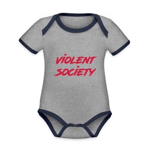 Violent Society - Baby Bio-Kurzarm-Kontrastbody