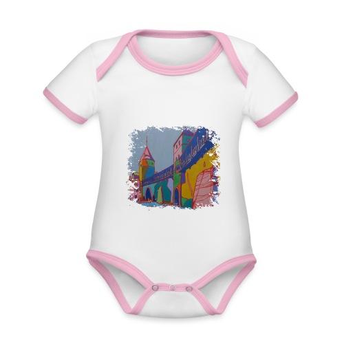 Tallinn - Baby Bio-Kurzarm-Kontrastbody