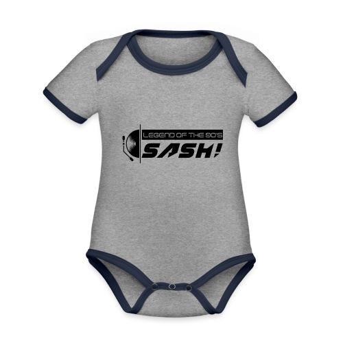 DJ SASH! Turntable 2020 Logo - Organic Baby Contrasting Bodysuit