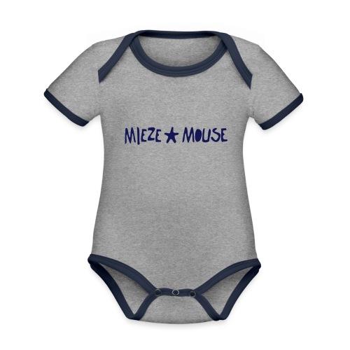 MIEZEMOUSE STAR - Baby Bio-Kurzarm-Kontrastbody