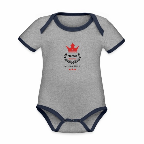Mamas kleiner Prinz-s - Baby Bio-Kurzarm-Kontrastbody