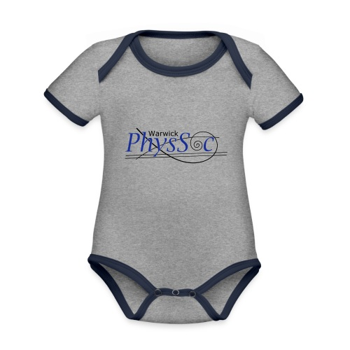 Official Warwick PhysSoc T Shirt - Organic Baby Contrasting Bodysuit