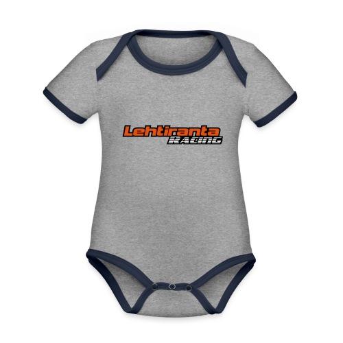 Lehtiranta racing - Vauvan kontrastivärinen, lyhythihainen luomu-body
