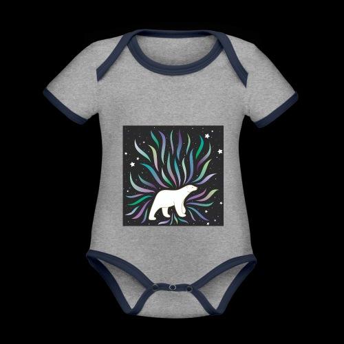 polar ours - Body Bébé bio contrasté manches courtes