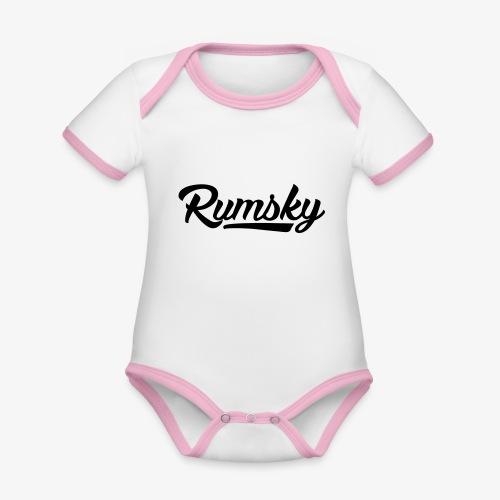 Rumsky-logo - Baby contrasterend bio-rompertje met korte mouwen