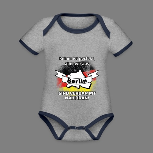 Perfekt Berlin - Baby Bio-Kurzarm-Kontrastbody
