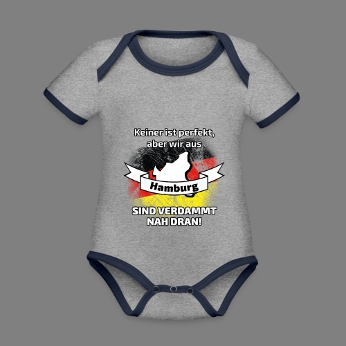 Perfekt Hamburg - Baby Bio-Kurzarm-Kontrastbody