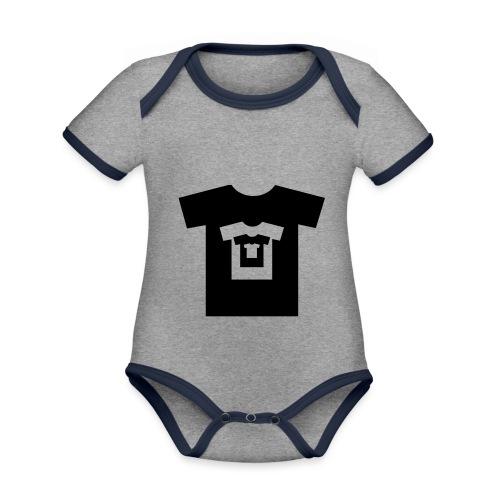 t-shirt récursif - Body Bébé bio contrasté manches courtes