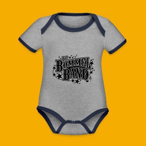 bb logo - Baby contrasterend bio-rompertje met korte mouwen