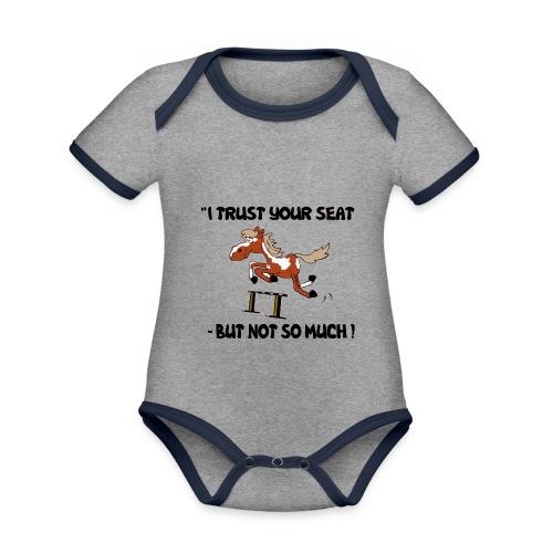 I trust your but not soo much - Baby Bio-Kurzarm-Kontrastbody