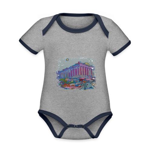Athen - Baby Bio-Kurzarm-Kontrastbody