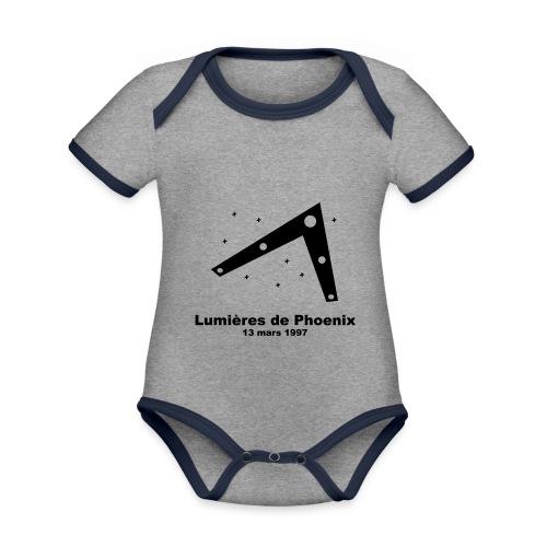 OVNI Lumieres de Phoenix - Body Bébé bio contrasté manches courtes