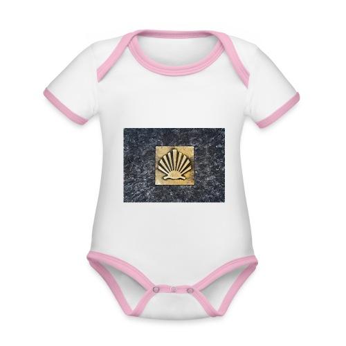 Scallop Shell Camino de Santiago - Organic Baby Contrasting Bodysuit
