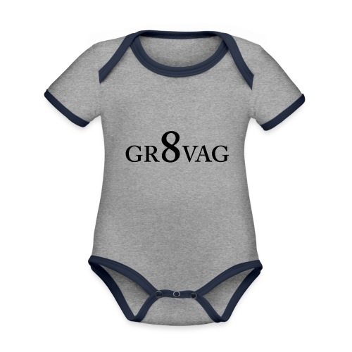 GR8VAG - Vauvan kontrastivärinen, lyhythihainen luomu-body