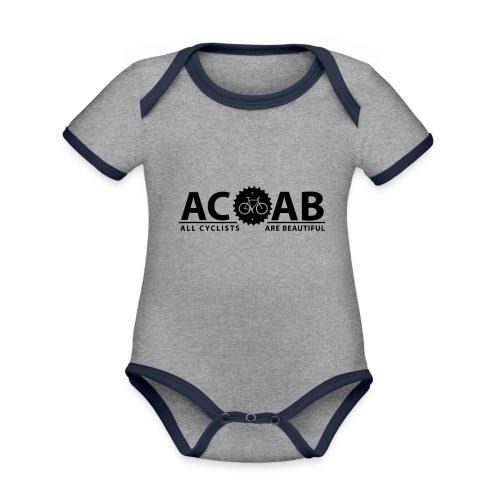 ACAB ALL CYCLISTS - Baby Bio-Kurzarm-Kontrastbody
