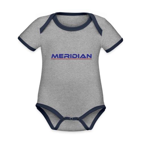Meridian - Body da neonato a manica corta, ecologico e in contrasto cromatico
