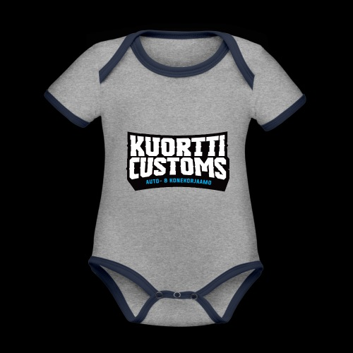 kc pikselilogo - Vauvan kontrastivärinen, lyhythihainen luomu-body