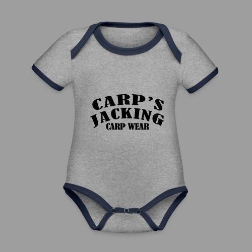 Carp's griffe CARP'S JACKING - Body Bébé bio contrasté manches courtes