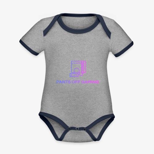 color logo transparent - Ekologisk kontrastfärgad kortärmad babybody
