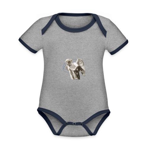 Angelo custode 1 - Body da neonato a manica corta, ecologico e in contrasto cromatico