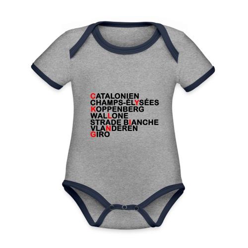 CYKLING - Kortærmet økologisk babybody i kontrastfarver
