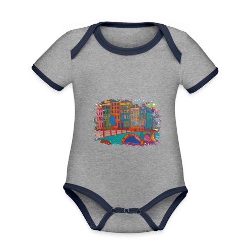 Amsterdam - Baby Bio-Kurzarm-Kontrastbody