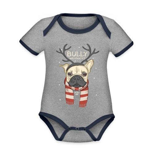 Bully Weihnacht - Baby Bio-Kurzarm-Kontrastbody
