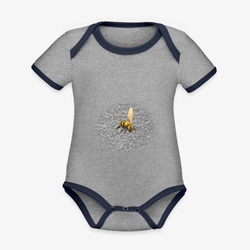 biene mit steienen - Baby Bio-Kurzarm-Kontrastbody