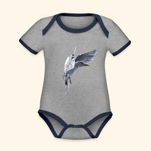 Weißschwanz Tropenvogel - Baby Bio-Kurzarm-Kontrastbody