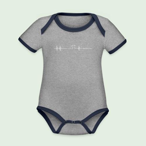 Herzschlag Grenzlandeis - Baby Bio-Kurzarm-Kontrastbody