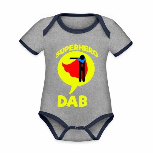 Dab supereroe/ Dab Superhero - Body da neonato a manica corta, ecologico e in contrasto cromatico