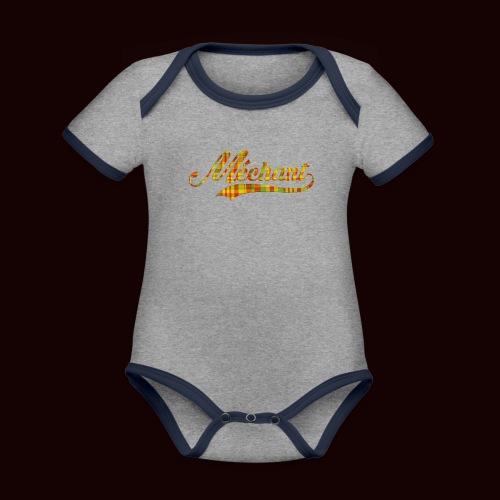 méchant madras - Body Bébé bio contrasté manches courtes