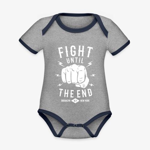 Se battre jusqu'à la fin - Body Bébé bio contrasté manches courtes