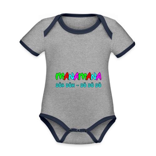 manamana - Baby Bio-Kurzarm-Kontrastbody