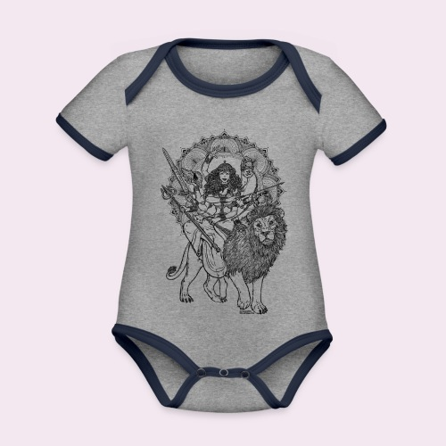 Durga - Baby Bio-Kurzarm-Kontrastbody