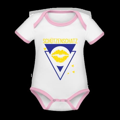 Schützenschatz - Baby Bio-Kurzarm-Kontrastbody