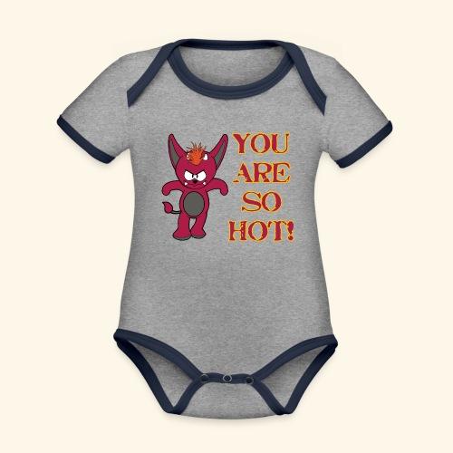Zwergflammelfe - You are so hot! - Baby Bio-Kurzarm-Kontrastbody