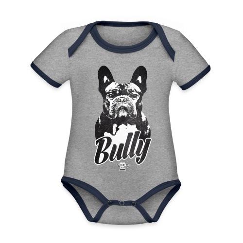 Bully - Französische Bulldogge Silhouette - Baby Bio-Kurzarm-Kontrastbody