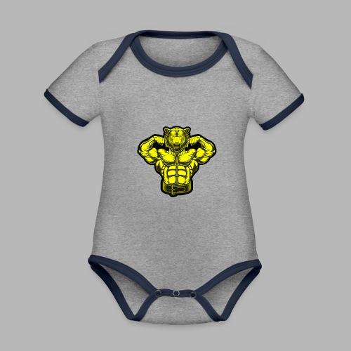 Bodybuilder Wolf - Baby Bio-Kurzarm-Kontrastbody