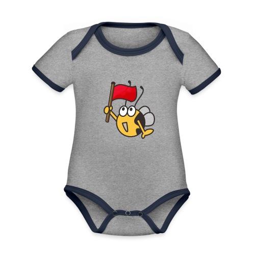 Fahnenträger - Baby Bio-Kurzarm-Kontrastbody