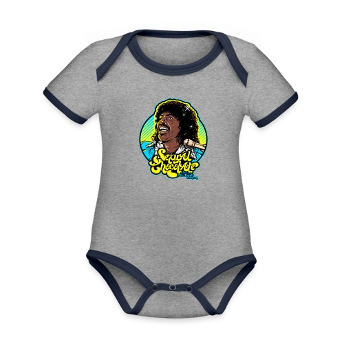 sexual chocolate merch - Organic Baby Contrasting Bodysuit