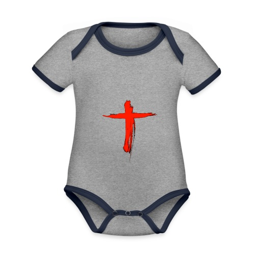 the cross - Body contraste para bebé de tejido orgánico