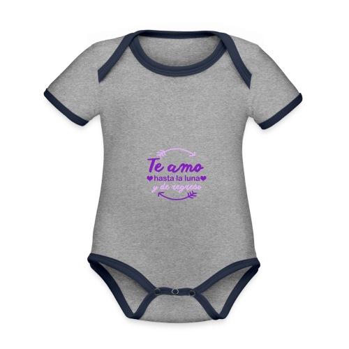 te amo hasta la luna y de regreso - Body contraste para bebé de tejido orgánico