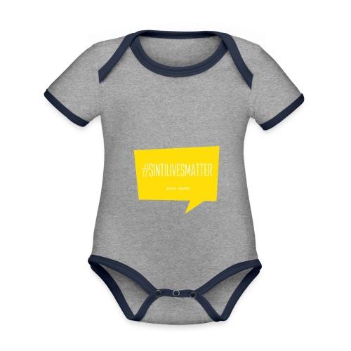 Sinti Lives Matter - Baby Bio-Kurzarm-Kontrastbody