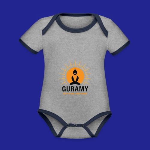 final nero con scritta - Organic Baby Contrasting Bodysuit