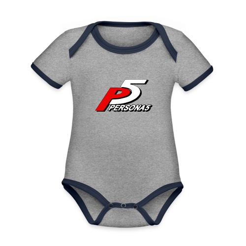 Persona 5 Mask - Organic Baby Contrasting Bodysuit