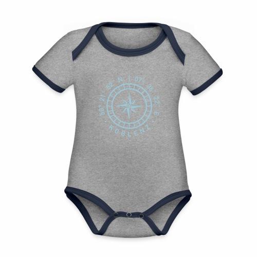 Koblenz – Kompass - Baby Bio-Kurzarm-Kontrastbody