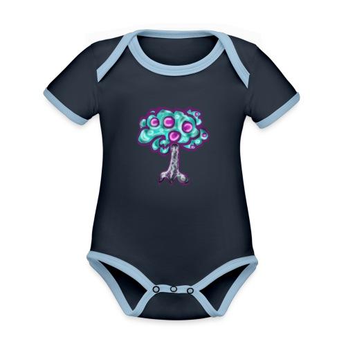 Neon Tree - Organic Baby Contrasting Bodysuit