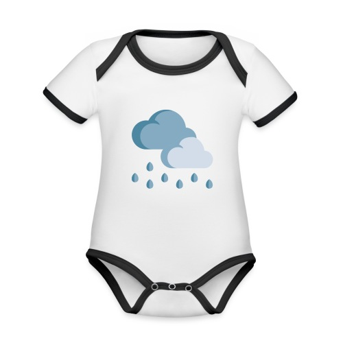 lluvia - Body contraste para bebé de tejido orgánico